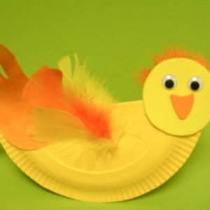 Paper Plate Easter Hen