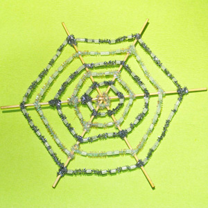 Glow in the Dark Hama Spider Web