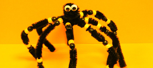pipe cleaner spider instructions