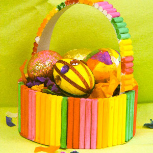Colourful Easter Basket