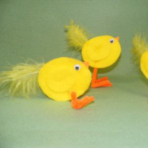 Fluffy Felt Chicks
