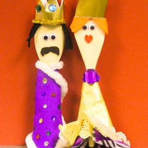 King & Queen Wooden Spoons