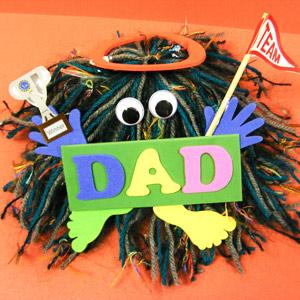Hairy Pom Pom Monster Dad