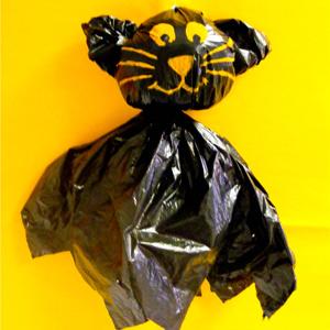 Halloween Spooky Bin Bag Cat