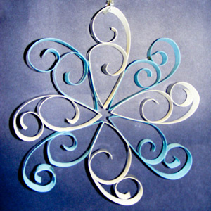 Christmas Curled Snowflake
