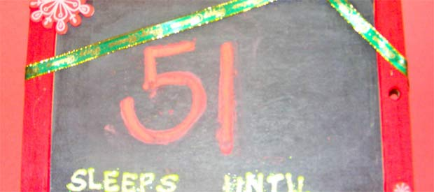 Santa Countdown Board Idea