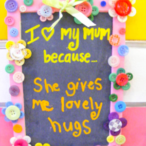Button Board for Mothers Day