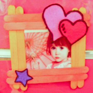 Valentines Idea Lollystick Frame