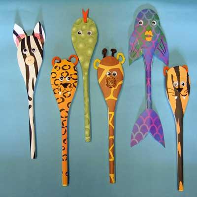 Animal Print Spoons