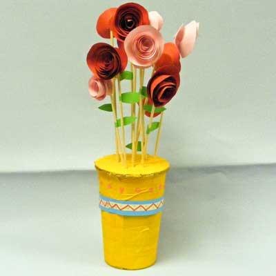 Seasonal Paper Roses