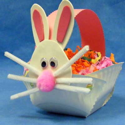 Easter Bunny Paper Plate Basket