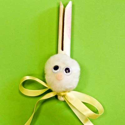 Peg Doll Easter Bunny