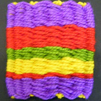 Simple Weaving with Yarn