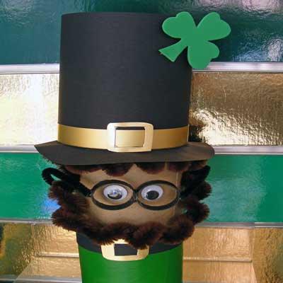 St Patrick's Cardboard Leprechaun