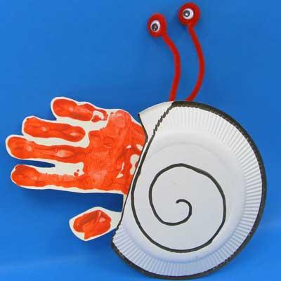 Hand Print Hermit Crab