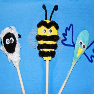 Springtime Spoon Animal Puppets