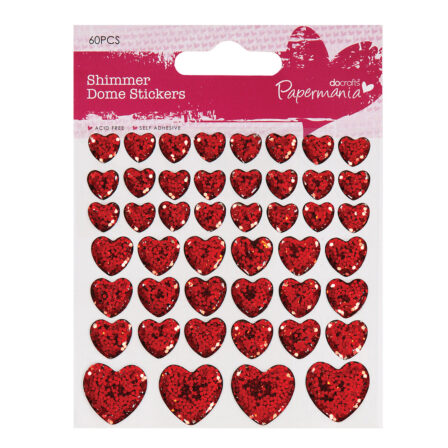 PAPERMANIA SHIMMER HEART STICKERS