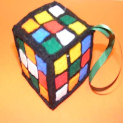 Felt 'Rubiks Cube'