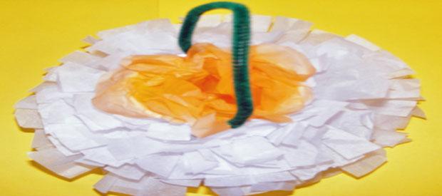 TISSUE FLOWER BASKET