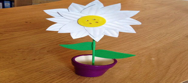 PAPER PLATE PANSY