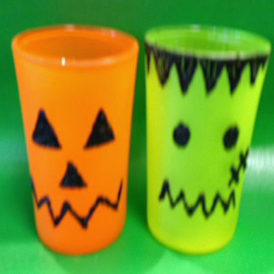 SPOOKY SPRAY PAINT VOTIVES