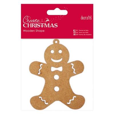 Wooden Shape Gingerbread Man