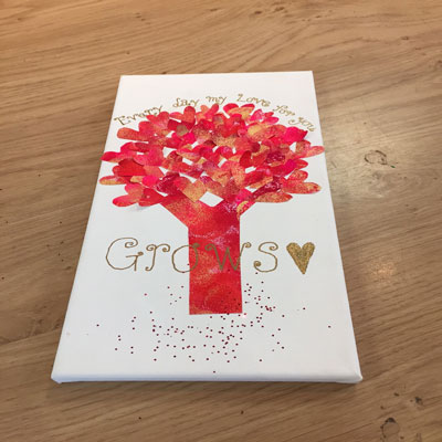 VALENTINES TREE CANVAS