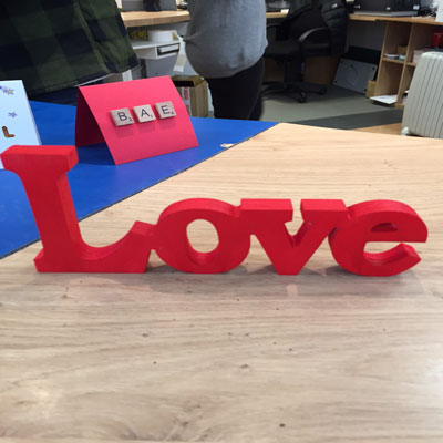 'LOVE' WOODEN DECORATION