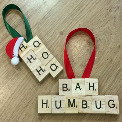 CHRISTMAS LETTER TILE DECORATIONS