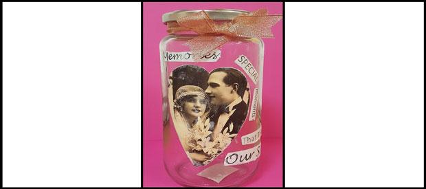 MOD PODGE MEMORY JAR