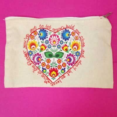 MOD PODGE HEART PENCIL CASE