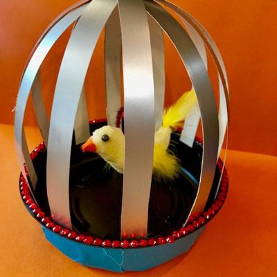 SCRAP BIRD CAGE
