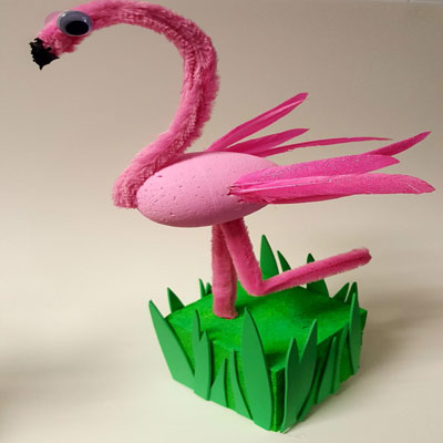 PIPECLEANER FLAMINGO