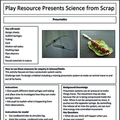 Pneumatics – Play Resource Presents Science From Scrap
