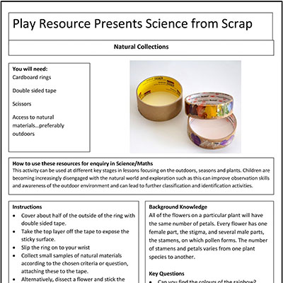 Natural Collections – Play Resource Presents Science from Scrap