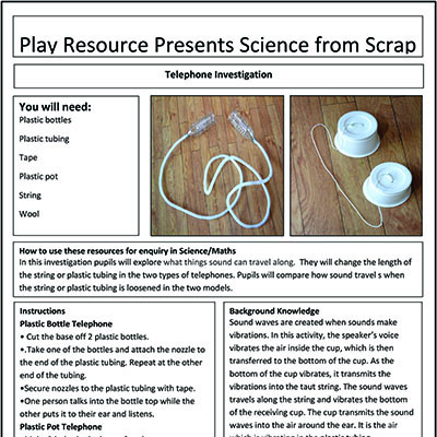 Telephone Investigations – Play Resource Presents Science from Scrap