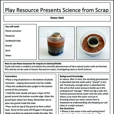Water Well – Play Resource Presents Science from Scrap