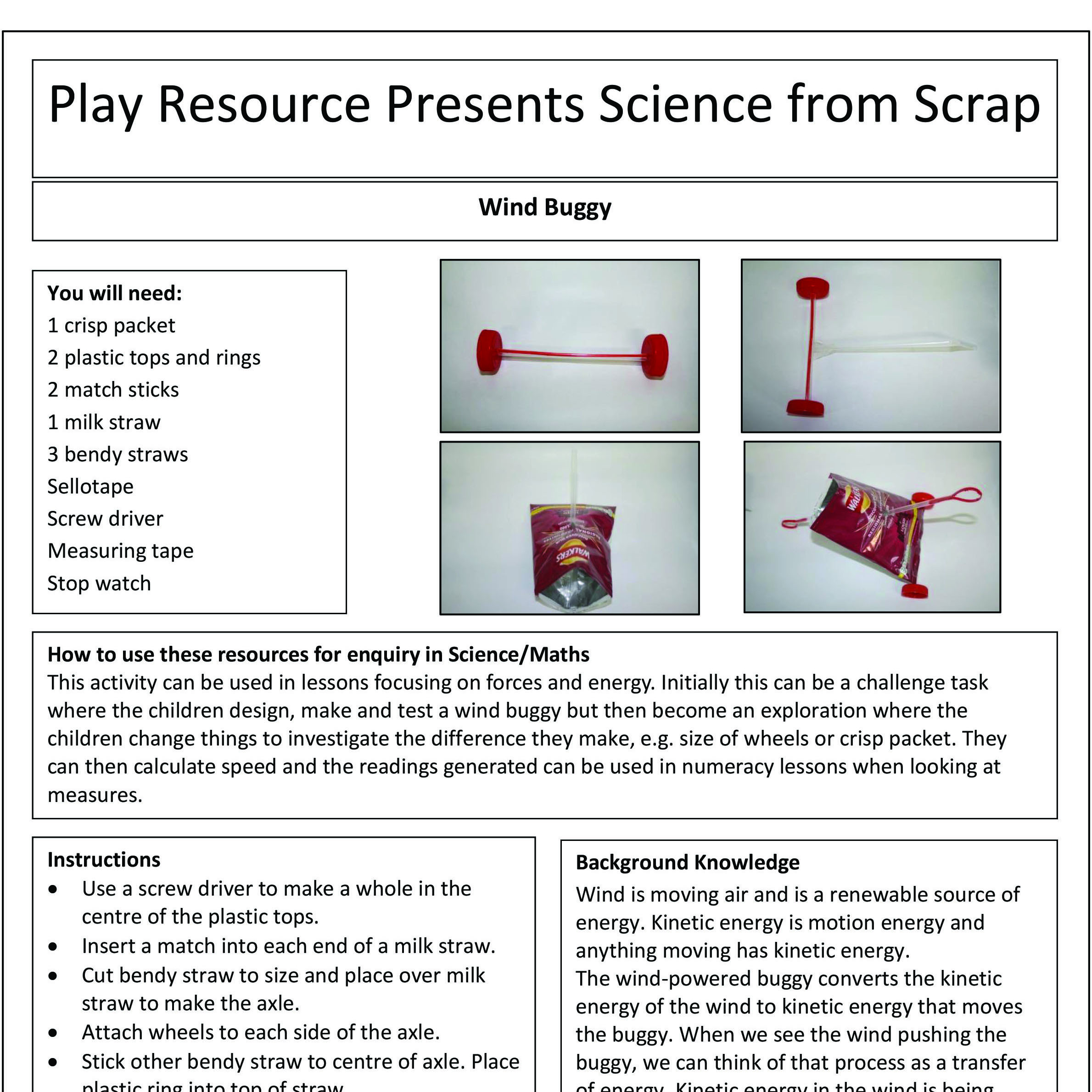 Wind Buggy – Play Resource Presents Science from Scrap