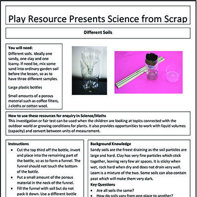 Different Soils – Play Resource Presents Science from Scrap