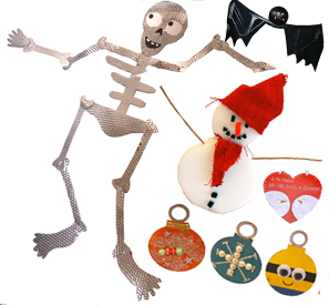 Halloween and Christmas Arts and Craft Workshops